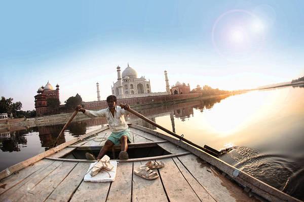 Www.ratansonal.com Art Print featuring the photograph Taj In Sun Light by Ratan Sonal