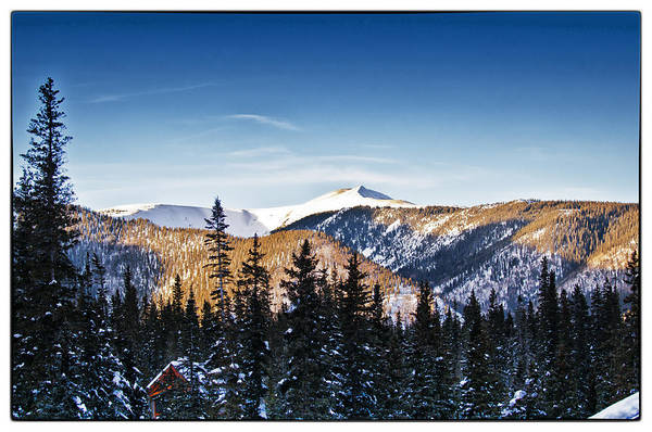 Landscape Art Print featuring the photograph Taos Mountains Sunset by Lisa Spencer