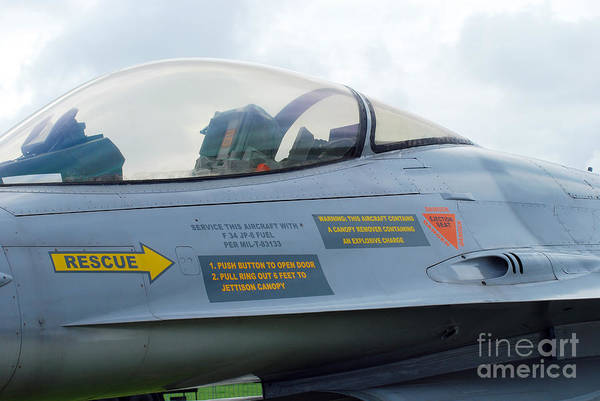 Air Component Art Print featuring the photograph The Cockpit Of An F-16 Fighting Falcon by Luc De Jaeger