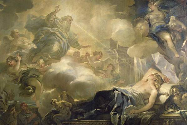 The Dream Of Solomon Art Print featuring the painting The Dream Of Solomon by Luca Giordano