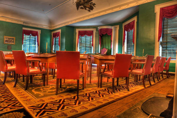 Independance Hall Art Print featuring the photograph The First American Congress Senate Chamber - Independence Hall - Congress Hall - by Lee Dos Santos
