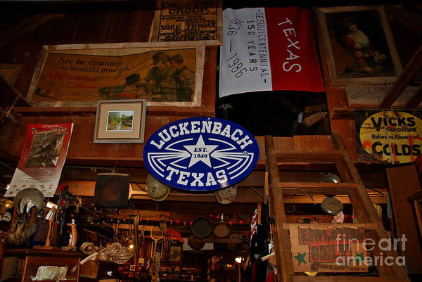 Luckenbach Art Print featuring the photograph The General Store In Luckenbach Tx by Susanne Van Hulst