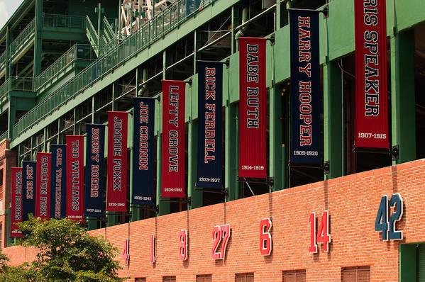 Fenway Park Art Print featuring the photograph The Greats by Paul Mangold