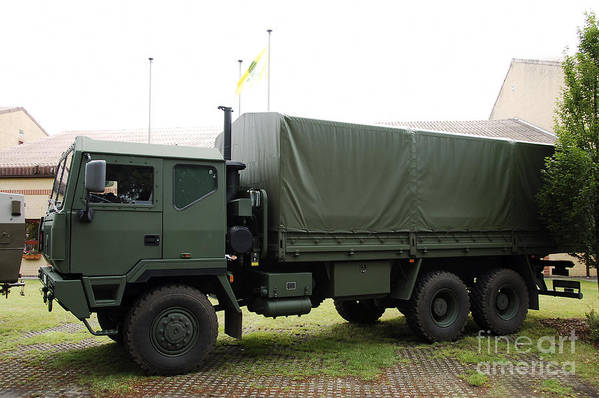 6x6 Art Print featuring the photograph The Iveco M250 8 Ton Truck Used by Luc De Jaeger