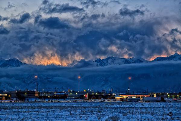 Sunrise Art Print featuring the photograph The Lifting Storm by Mitch Johanson