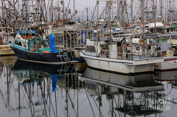 Fishing Boats Art Print featuring the photograph The Maze by Bob Christopher