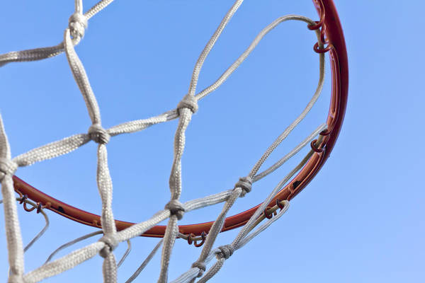Blue Art Print featuring the photograph The Net And No Game by Nicholas Evans
