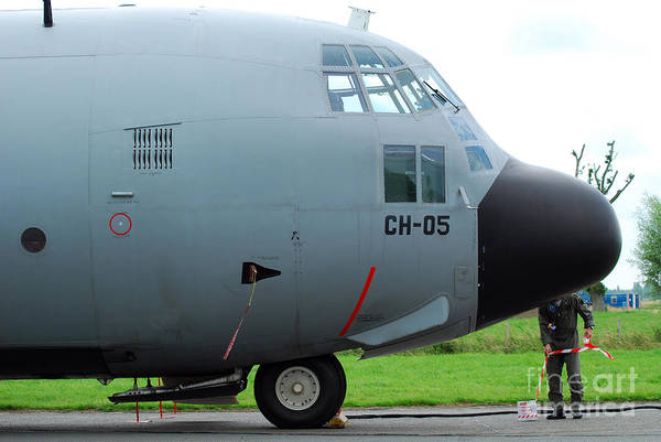 Adults Only Art Print featuring the photograph The Nose Of A Hercules C-130 Airplane by Luc De Jaeger