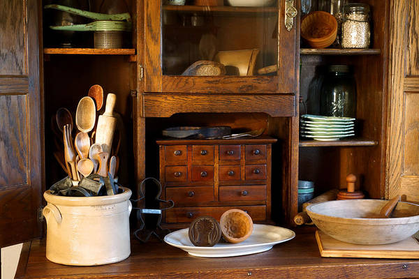 Hoosier Cabinet Art Print featuring the photograph The Old Baker by Carmen Del Valle