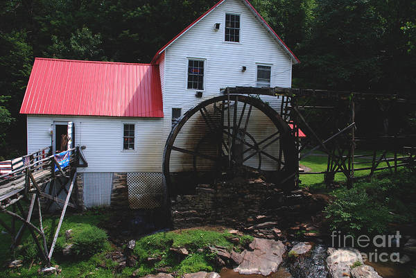 Mill Art Print featuring the photograph The Old Mill 1886 In Cherokee North Carolina by Susanne Van Hulst