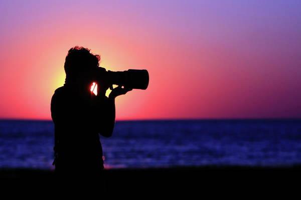Sunset Art Print featuring the photograph The Photographer by Rick Berk