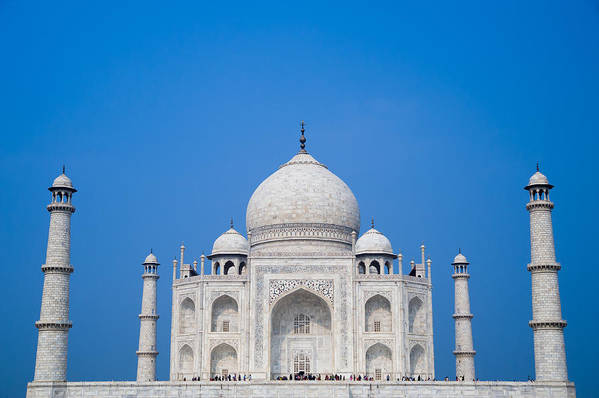Agra Art Print featuring the photograph The Taj Mahal by Anthony S Torres