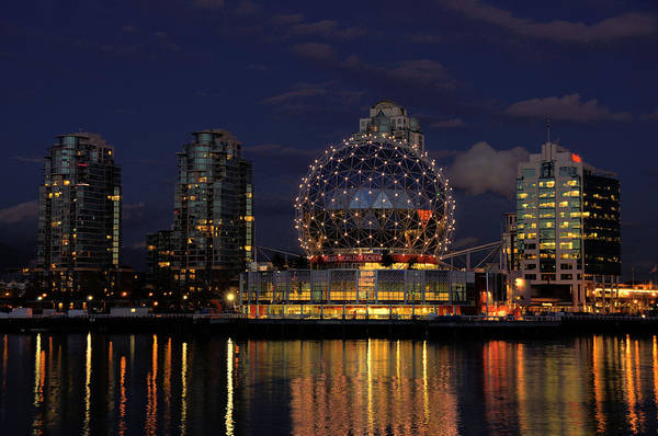 Telus Art Print featuring the photograph The Telus Science Center At Night by Lawrence Christopher