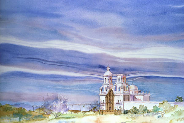 San Xavier Art Print featuring the painting The Way It Was by Jean Beck