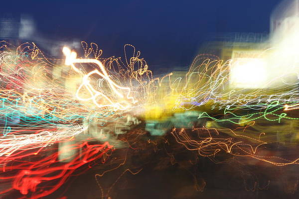 Neon Art Print featuring the photograph Time Tunnel by Rick Rauzi