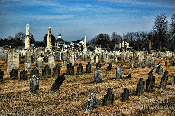 Tombstones Art Print featuring the photograph Tombstones by Paul Ward