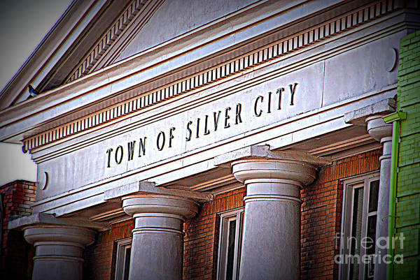 Town Of Silver City Art Print featuring the photograph Town Of Silver City New Mexico by Susanne Van Hulst