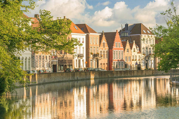 Horizontal Art Print featuring the photograph Traditional Brugge Buildings by Image by Dr. Ewan Photography. All Rights Reserved