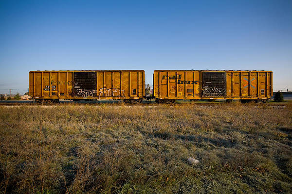 Train Art Print featuring the photograph Train Cars by Eric Tadsen