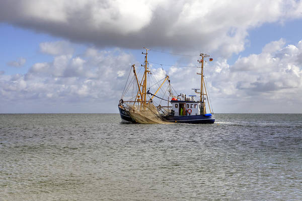 Fishing Boat Art Print featuring the photograph trawler - Sylt by Joana Kruse