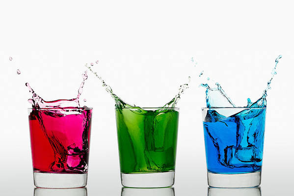 Alcohol Art Print featuring the photograph Triptych - Rgb by Gert Lavsen