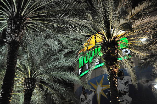 The Trop Art Print featuring the photograph Tropicana Field Entrance by John Black