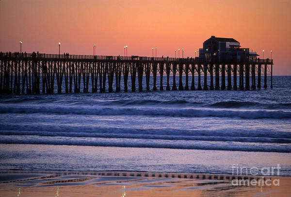 Bronstein Art Print featuring the photograph Twilight At Imperial Pier by Sandra Bronstein