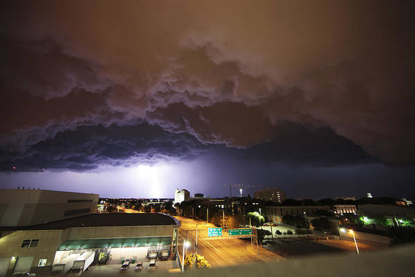 Thunderstorm Art Print featuring the photograph Underside Of The Storm by Loren Rye