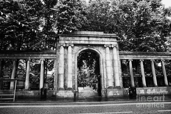 Union Art Print featuring the photograph union street facade to the old kirkyard churchyard o the kirk of St Nicholas aberdeen scotland uk by Joe Fox