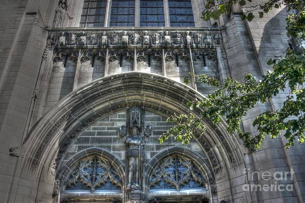 University Of Chicago Art Print featuring the photograph University Of Chicago Chapel by David Bearden
