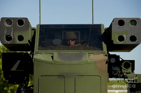 Men Art Print featuring the photograph U.s. Army Specialist Operates An by Stocktrek Images