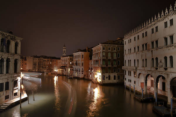 Architecture Art Print featuring the photograph Venice By Night by Joana Kruse