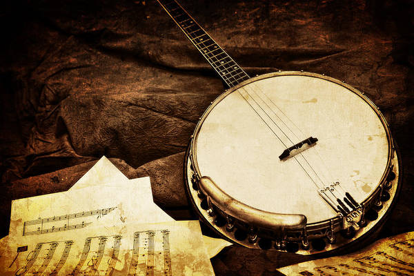 Old Art Print featuring the photograph Vintage Banjo by Trudy Wilkerson