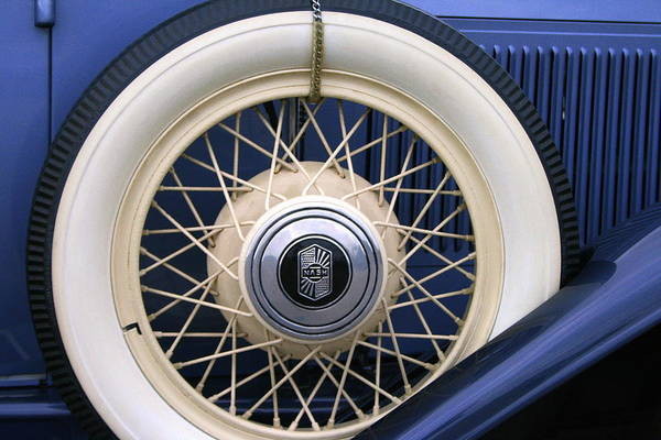 Vintage Art Print featuring the photograph Vintage Nash Tire by Kay Novy