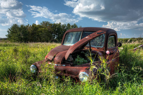 Landscape Art Print featuring the photograph Vintage Truck by Matt Dobson