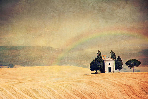 Horizontal Art Print featuring the photograph Vitaleta Dream by Just a click