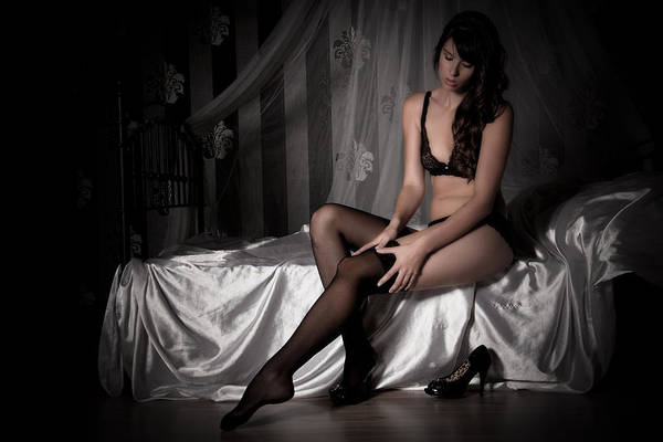 Erotic Art Print featuring the photograph Waiting by Ralf Kaiser