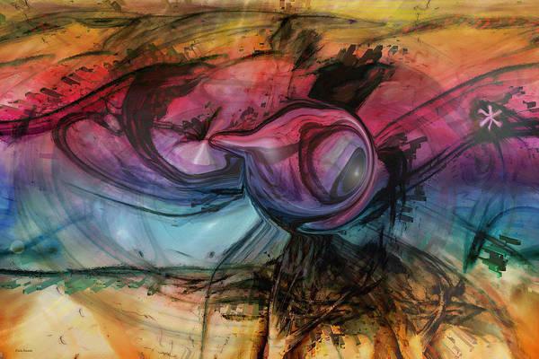 Wandering Star Print featuring the digital art Wandering Star by Linda Sannuti