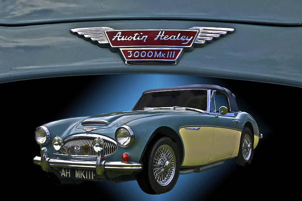 1966 Art Print featuring the photograph Well Heeled Healey by Mike Capone
