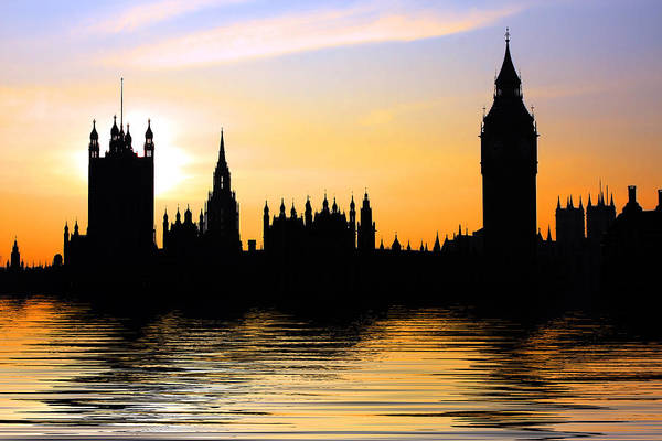 Parliament Art Print featuring the photograph Westminster Silhouette by Phil Clements