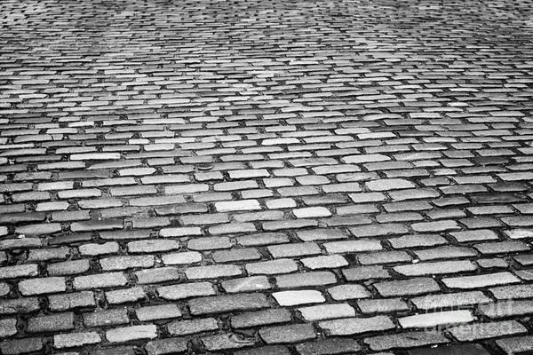 Wet Art Print featuring the photograph Wet Cobblestoned Huntly Street In The Union Street Area Of Aberdeen Scotland Uk by Joe Fox