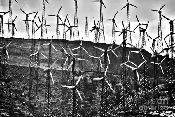 Windmills Art Print featuring the photograph Windmills By Tehachapi by Susanne Van Hulst
