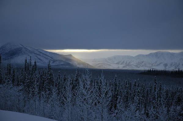 Snow Art Print featuring the photograph Winter Sun Alaska by John Wolf