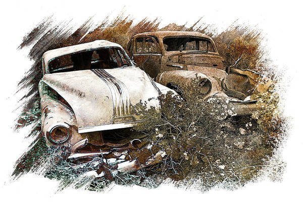 Art Art Print featuring the pyrography Wreck 3 by Mauro Celotti