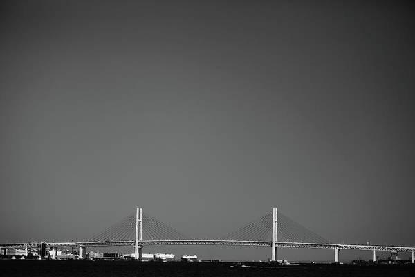 Horizontal Print featuring the photograph Yokohama Bay Bridge by Kiyoshi Noguchi