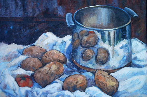 Still Life Art Print featuring the painting  Pomme De Terre by Dianna Willman