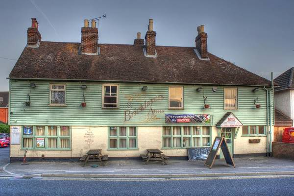 The Bricklayers Arms New Hythe Art Print featuring the photograph The Bricklayers Arms New Hythe by Dave Godden