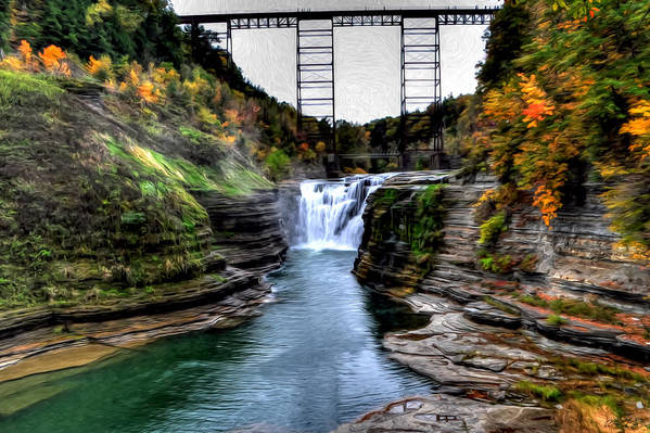 Art Print featuring the photograph 0032 Letchworth State Park Series by Michael Frank Jr