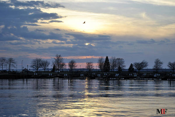 Buffalo Art Print featuring the photograph 013 April Sunsets by Michael Frank Jr