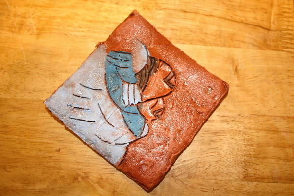 Jesus Art Print featuring the ceramic art Akaweese - Tile by Gloria Ssali